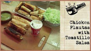 Chicken Flautas With Tomatillo Salsa