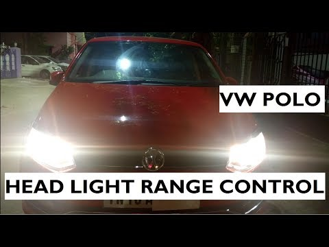 How To Adjust The Headlight Range In Volkswagen Polo