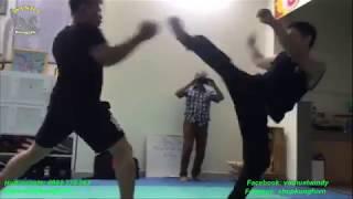 [ Học võ đóng phim võ thuật ] Tập tình huống đóng phim võ thuật, Hoc vo bieu dien
