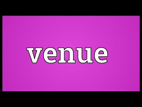Venue Meaning
