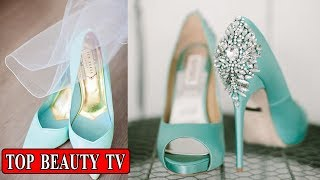 Turquoise shoes,  High heels for women