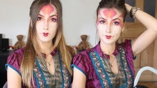 Хеллоуин Макияж-грим Гейши в стиле Фентази / Fantasy Geisha Inspired Halloween Makeup