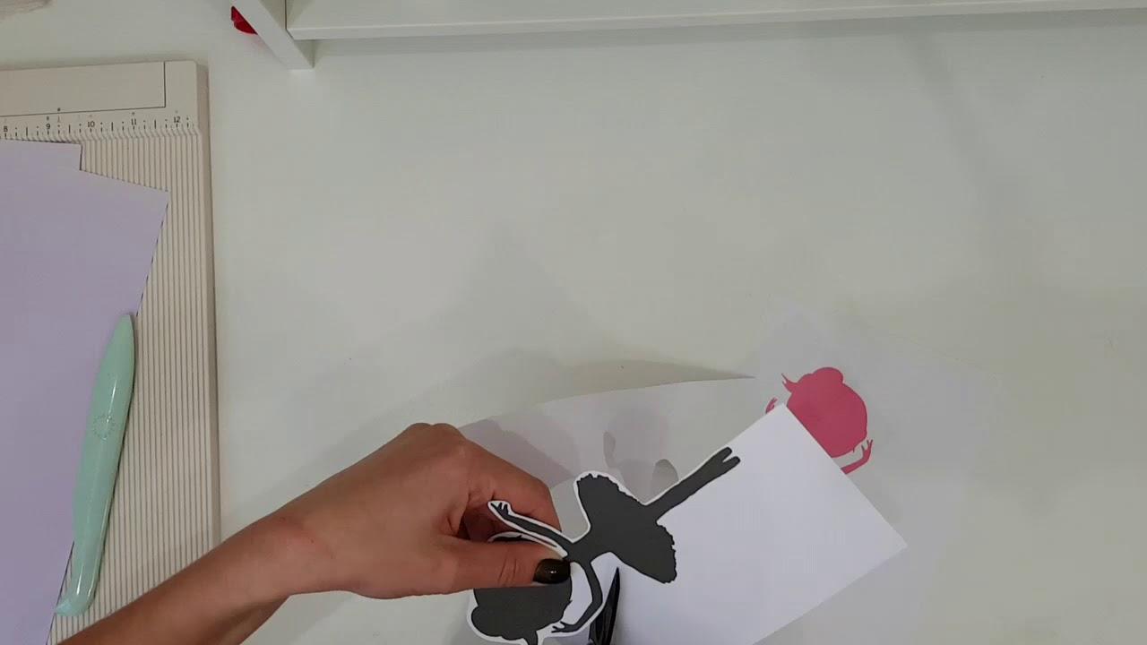 Открытка балерина с объемной юбочкой. Детское творчество