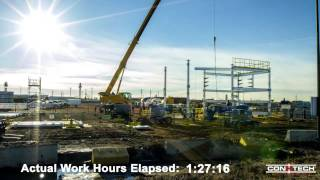 Conx Pipe Rack Module Assembly, Alberta, 4/9/14 - Time Lapse
