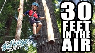 Kids Tightrope Walk Across Trees - Family Camp Vlogs