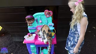 Baby Kitten Checkup Doc Mcstuffins Vet Clinic Center Cute Baby Kittens W/ Play Doh Girl