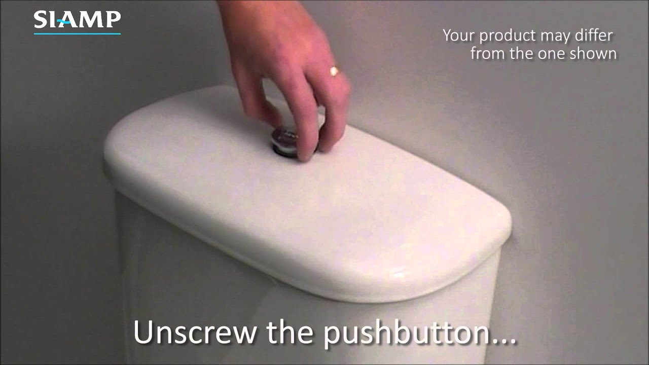 Sphinx Kiwa Toilet : Flushing valves how to unscrew button youtube