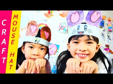 Cute Mouse Hat for Kids - DIY Easy Paper Craft Ideas Animal Hat
