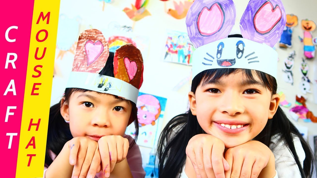 Cute Mouse Hat For Kids Diy Easy Paper Craft Ideas Animal Hat