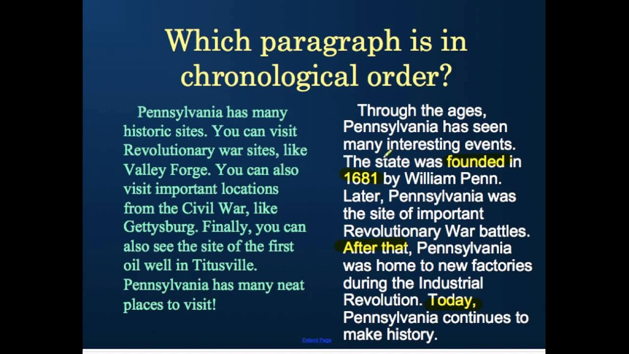 Chronological Text Structure - YouTube