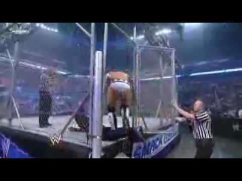 Jeff Hardy Vs CM Punk in Steel Cage Part 1 (8-28-09)