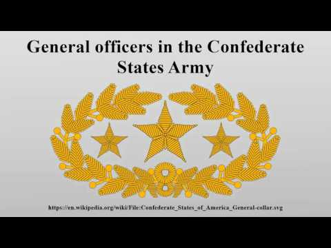 General officers in the Confederate States Army