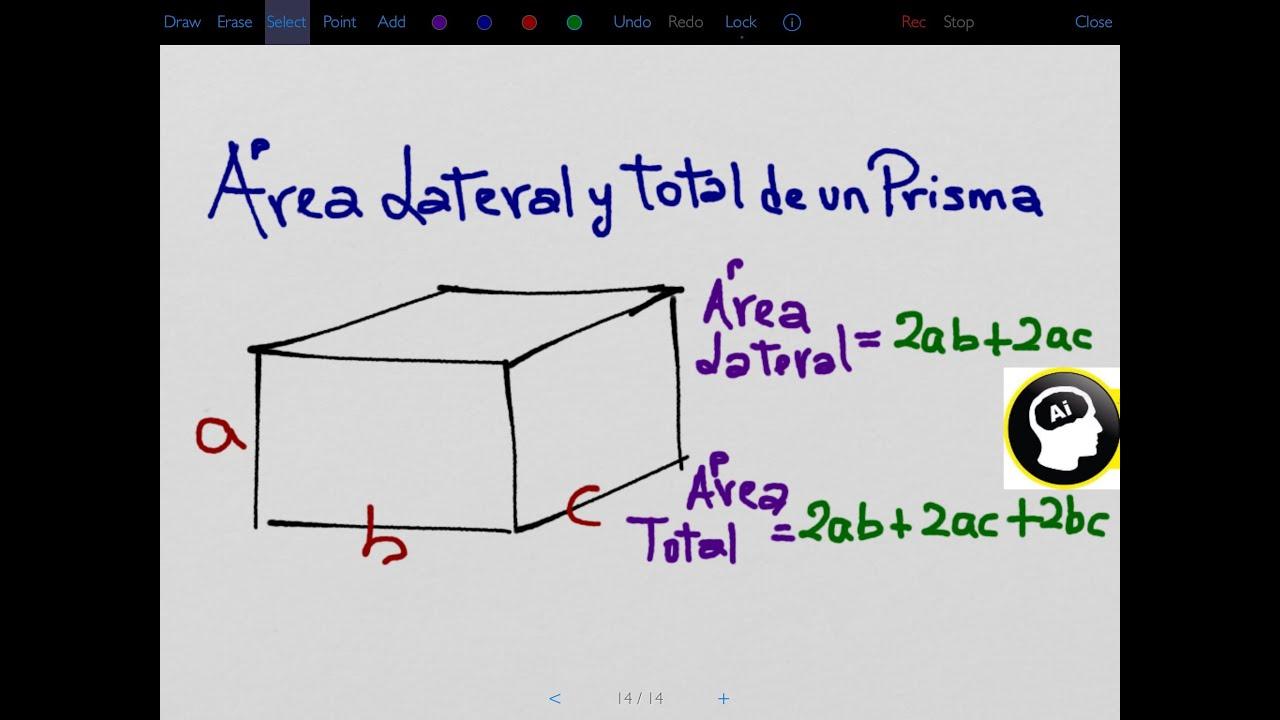 Área lateral y total de un prisma recto - YouTube