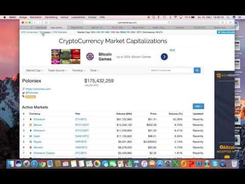 Saschas Börsentag, Lernvideo - Kryptowährungen handeln (Bitcoin, Ethereum, DASH, Ripple, Monero)