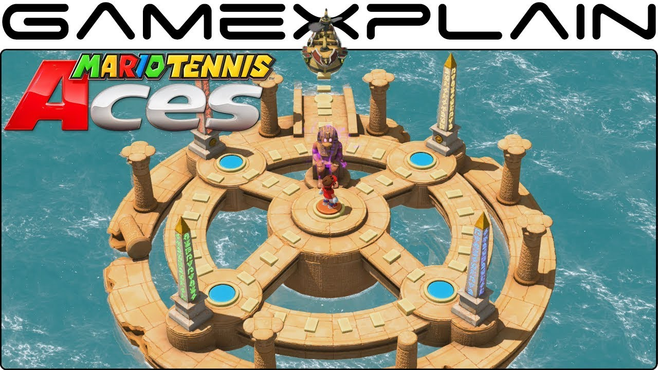 Mario Tennis Aces 2.0 Tour - Ruins of Trials Gameplay (NEW Single Player Content!)