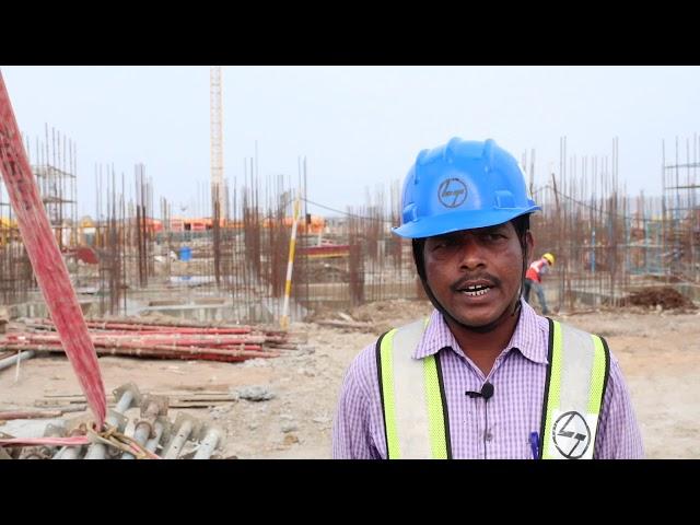 Work by L&T in Construction Sites @ Amaravati