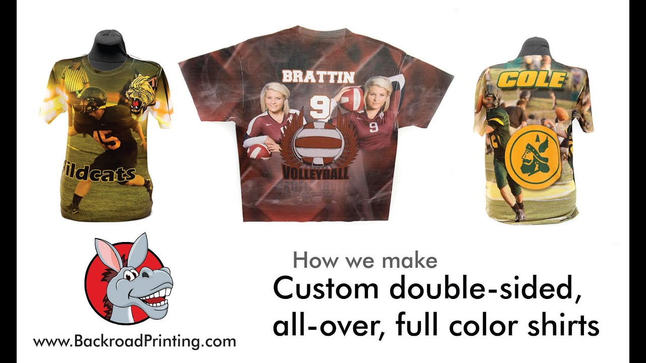 How we make custom full color, double-sided, all-over t-shirts at ...