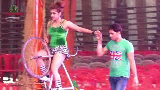 AMAZING CYCLING STUNT BY GIRLS AT OLYMPIC CIRCUS KOLKATA INDIA