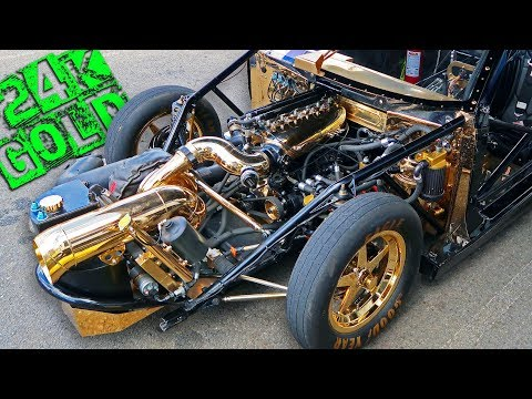 The Million Dollar Heart Attack! (24k Gold Car)