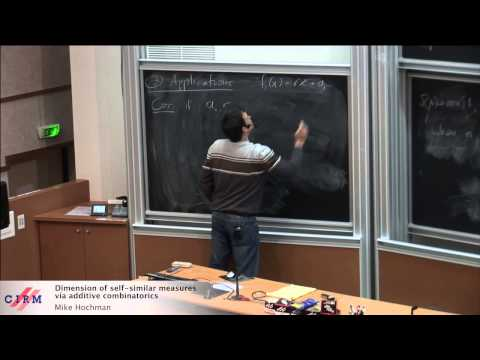 Mike Hochman: Dimension of self-similar measures via additive combinatorics