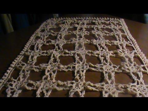 C mo tejer un centro de mesa a crochet o gancho 1a for Centro de mesa a crochet