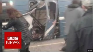 St Petersburg metro explosions 'kill 10' - BBC News