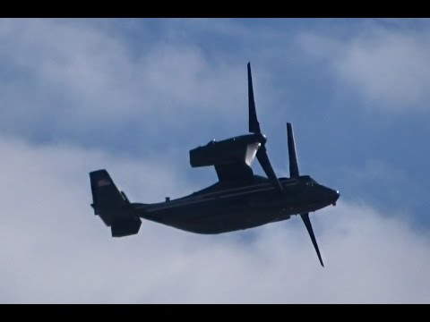 HMX1 V-22 Ospreys over London  - Barack Obama's Helicopter E