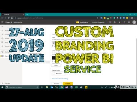 How To Add A Custom Branding In Power BI Services - TAIK