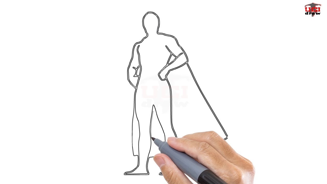 How To Draw A Superhero Easy Step By Step Drawing Tutorials For Kids