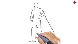 superhero drawing superheroes draw kid easy step drawings paintingvalley