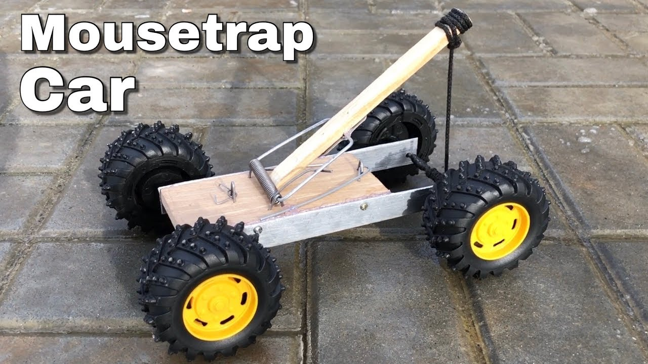 How To Make A Car From Mousetrap Catapult Car Youtube