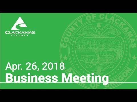 Board of County Commissioners' Meeting Apr. 26, 2018