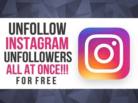 automatically unfollow non followers on instagram