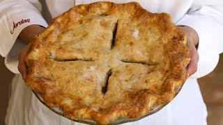 Pie Crust Recipe Tutorial Demonstration: How To Make Tender, Flaky Pie Crust
