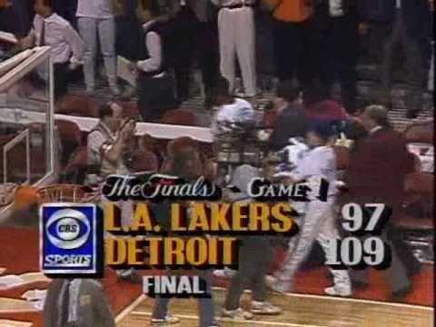 1989 NBA Finals: Lakers at Pistons, Gm 1 part 12/12