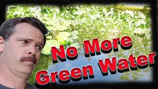 No more green pond water! Build a pre-filter!