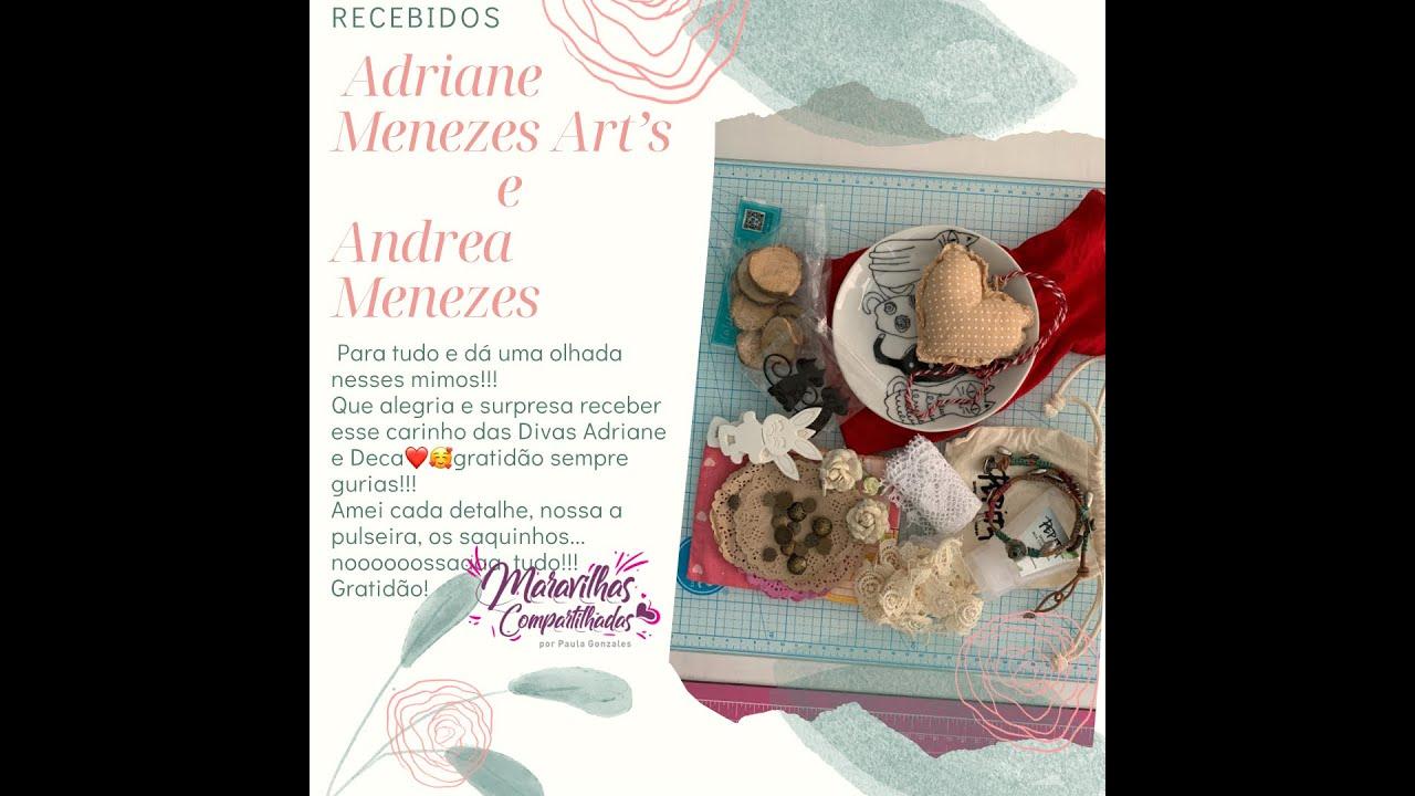 Recebidos Adriane Menezes Art's e Andrea Menezes