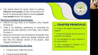 2020_1008 PWAM Bible Study: Kingdom Principles - Chapter 4 - The KINGDOM KING - Part 2