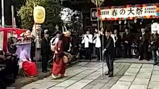 田島の獅子舞の弓掛