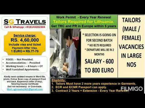Tailors Jobs In Europe - Lithuania