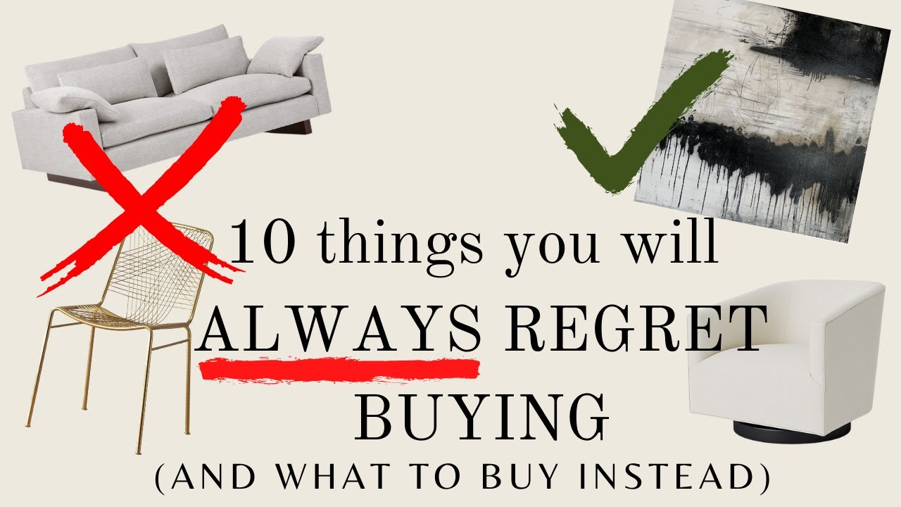Download YOU WILL ALWAYS REGRET BUYING These 10 things for YOUR HOME   HOME DECOR MISTAKES