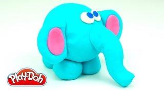 Лепим Слона из пластилина, рукоделие для детей