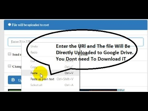URL to Google Drive | Upload file to google drive from URl