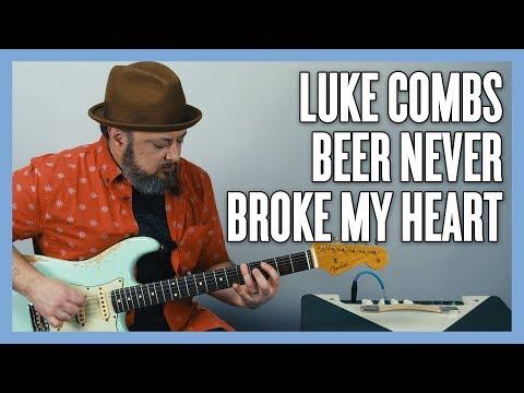Download Lagu  Luke Combs Beer Never Broke My Heart Guitar Lesson Mp3 Free