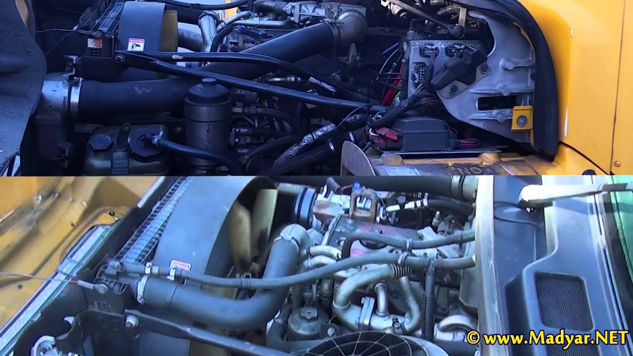 Mercedes-Benz OM906LA engine running