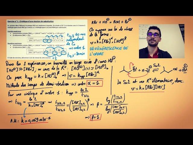 TD cinétique macroscopique (1/5) : méthode des temps de demi réaction