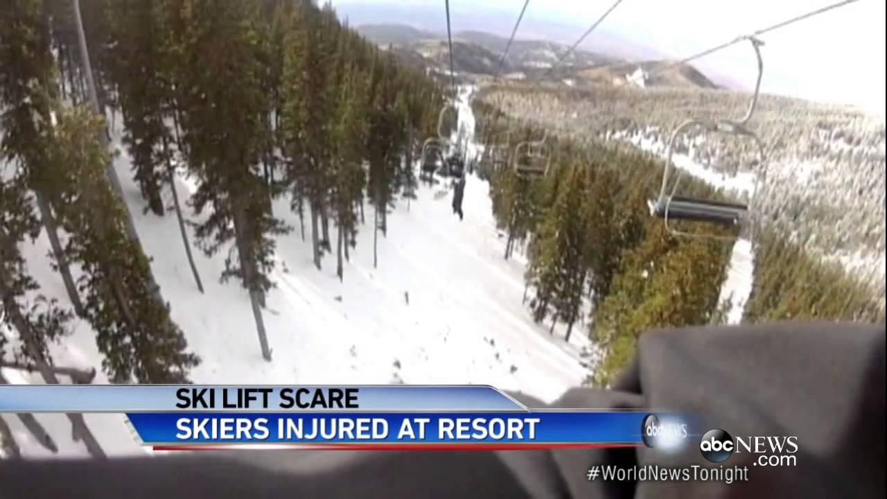 ski chair lift inexpensive plastic adirondack chairs malfunction injures seven at maine resort youtube