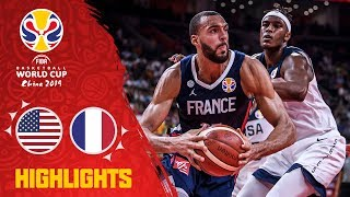 USA v France - Highlights - Quarter-Finals - FIBA Basketball World Cup 2019