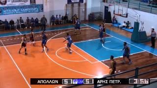 2014-15 Α ΕΣΚΑ ανδρών Απόλλων-Άρης Πετρ. 24/11/2014