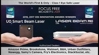 $399 Laser Beam Pro C200 Laser Pico Projector, UO Smart Beam Laser